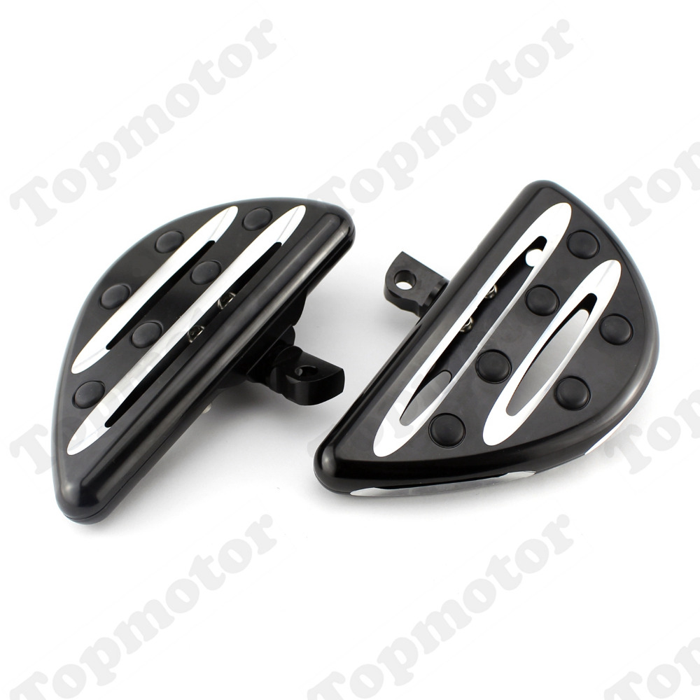 Motorcycle Foot Rest Black Deep Edge Cut Front Foot Pegs Footrest For Harley Sportster Xl Dyna Male Mount Foot Rests