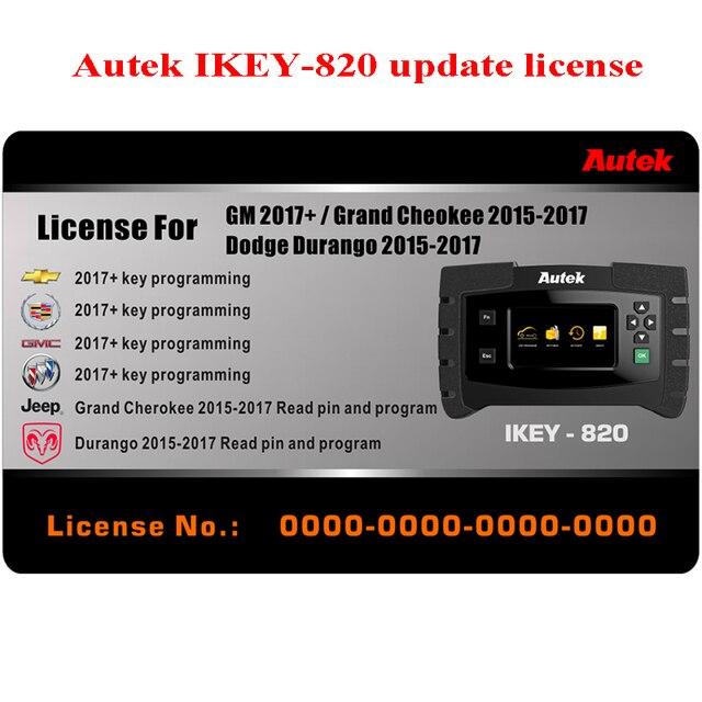 Autek IKEY820 Auto Car Key programmer OBD2 GM/Grand Cheokee/Dodge Durango  software activated Original hand tools