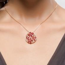 Elegant Round Shaped Floral Crystal Pendant