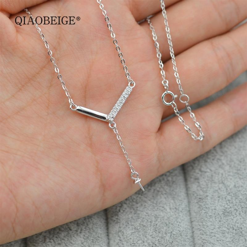 56098c4efc46 QIAOBEIGE accesorio diy montaje perla cadena colgante collar al por mayor  china