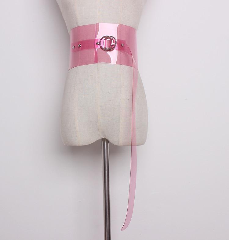 Women's Runway Fashion PVC Candy Color Cummerbunds Female Dress Corsets Waistband Belts Decoration Wide Belt R1348