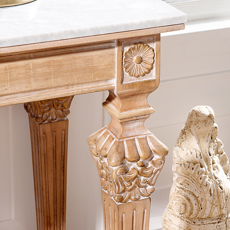 Awesome French Neo Classical European White Elm Wood Furniture Hand Carved Marble  Entrance Side Table A Few Side Tables In Cabinet Pulls From Home  Improvement On ...