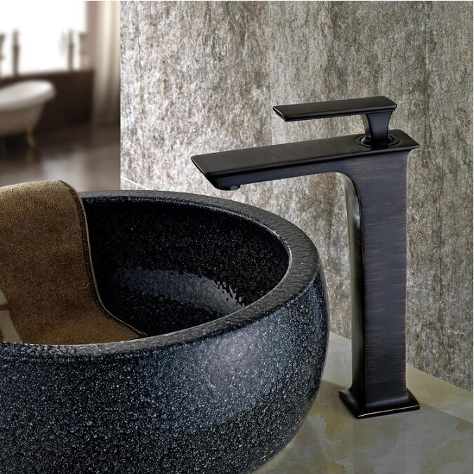 Basin Faucet Black Oil Brushed Brass Crane Bathroom Faucets Hot and Cold Water Mixer Tap Contemporary Mixer Tap torneira kitchen sink faucet black oil brushed brass crane kitchen faucets hot and cold water mixer tap single hole mixer tap torneira