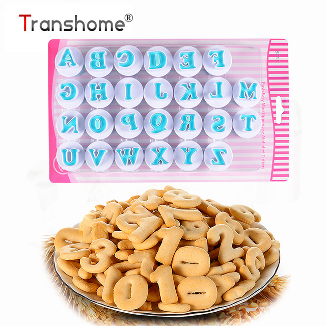 Transhome Cookie Cutter Letter 26Pcs/Set Alphabet Number Fondant Cake/Biscuit/Baking Mold Cookie Stamp/Tools Baking Tool 2019