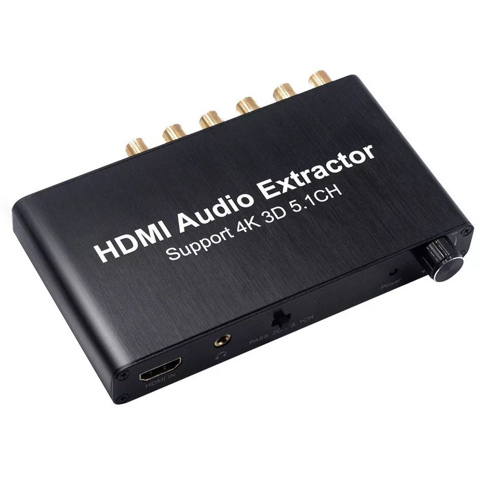 AIXXCO HDMI splitter audio decoder 4 Karat HDMI 5,1 audio decoder ...