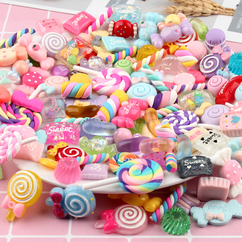Charms Clip Diy-Accessories Jewelry Making Cabochons Cake Candy Resin Craft Wholesale-Sets