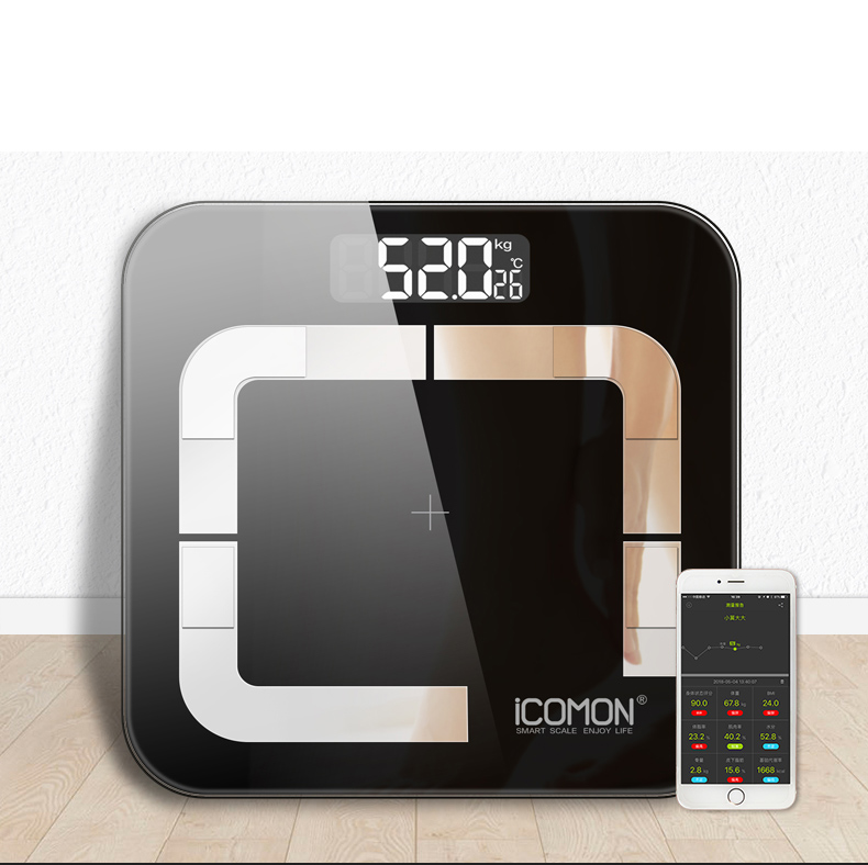 New iCOMON i31 Bathroom Weight Scales Floor Smart Body Fat Scale Bluetooth Human Weight bmi Household