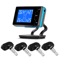 TPMS Auto Car Wireless Tire Pressure Monitoring System with 4 Sensors LCD Display Monitor Cigarette Lighter Socket PERSHN L2 NF