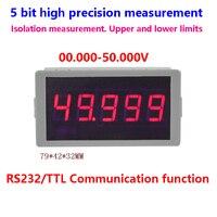 GWUNW BY56W DC 50.000V(50V) 5 bit alto voltímetro de precisión RS232 Serial comunicación alarma señal medidor probador de voltaje