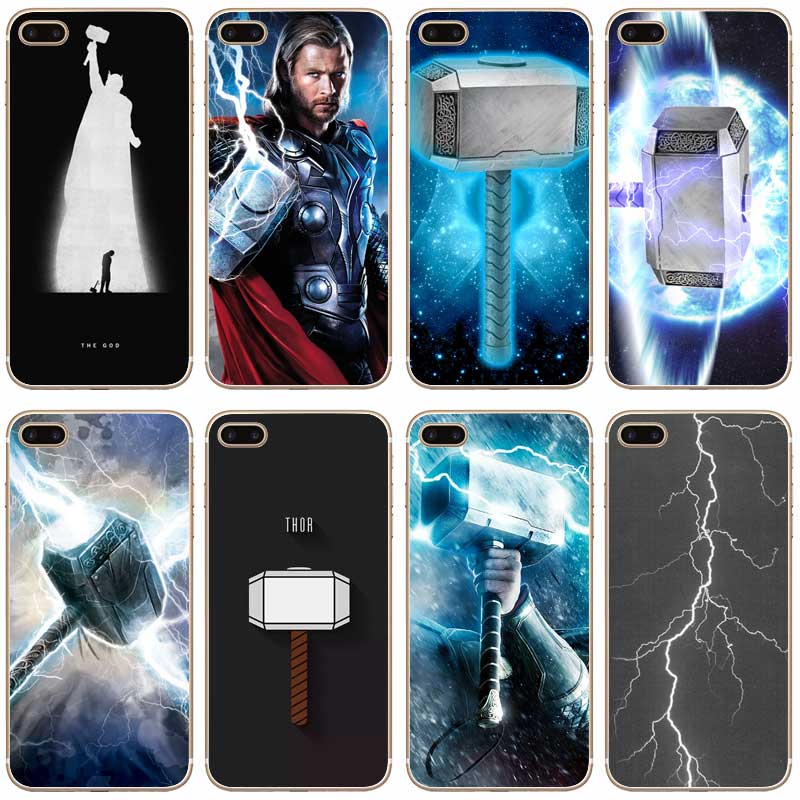 f989fbb3b777 H320 Thor God Of Thunder Avengers Transparent Hard Thin Case Cover For  Apple iPhone XR XS