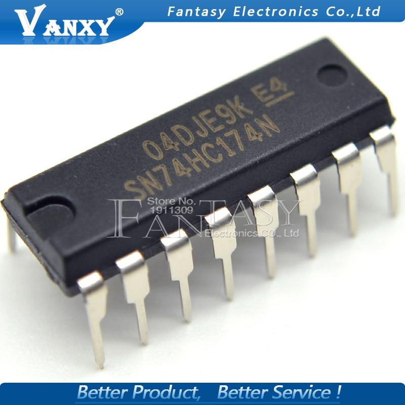 10PCS SN74HC174N DIP16 SN74HC174 DIP 74HC174N DIP-16 74HC174 HD74HC174P New And Original IC