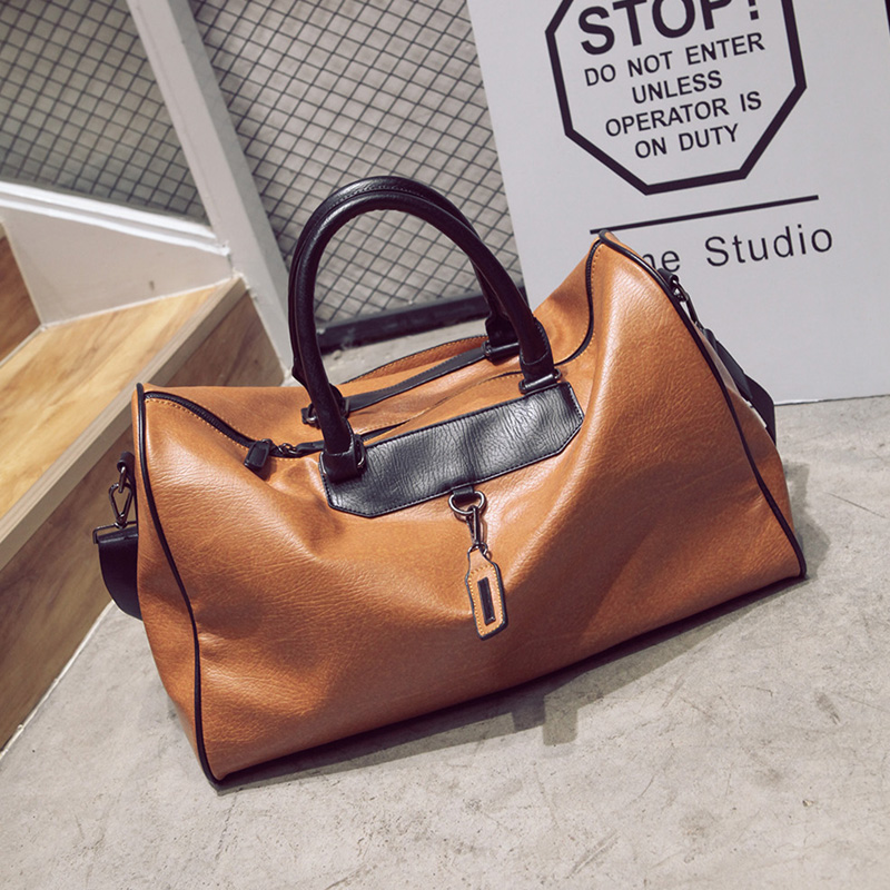 цены Women Travel Bags Weekend Fashion PU Leather Large Capacity Mens Travel Duffle Bag Vintage Handbag Luggage Ladies Shoulder Bag
