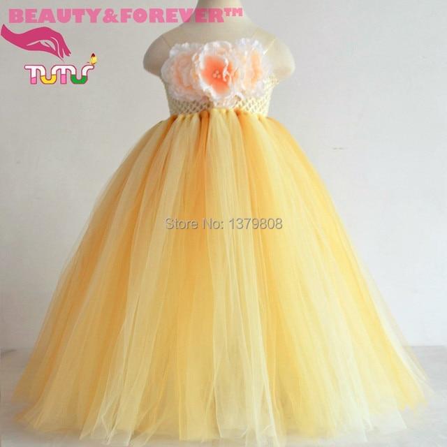 Yellow tulle flower girl dresses fashion dresses yellow tulle flower girl dresses mightylinksfo
