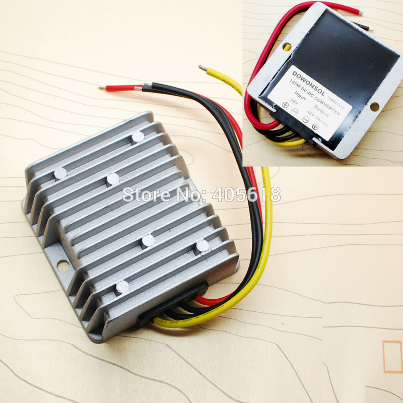 48V Dc/dc Converter Regulator 12v Step up to 48v 3a 150w High efficiency waterproof dc converter waterproof regulator module step up dc 10v 12v 18v to dc 19v 15a 285w for solar power system voltage converter transformer