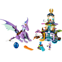 591Pcs Elves The Dragon Sanctuary Cherry Tree Princess Bela 10549 Building Blocks Fairy Girls Toys Compatible Legoing Friends