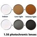 Índice de 1.56 lentes fotocromáticas prescrição miopia lente proteção UV cinza, marrom Para Correção de Miopia 0.00-4.00, astigmatismo 0.00-2.00