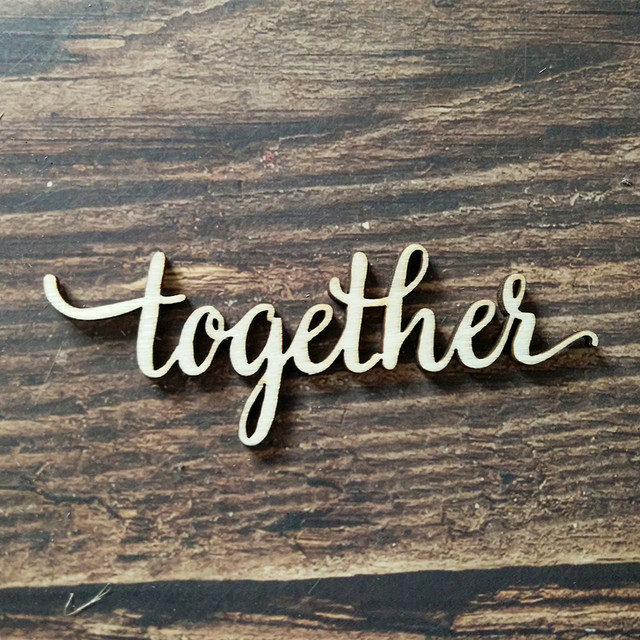 10pcs together word wood sign laser engraved wooden signs wall decor