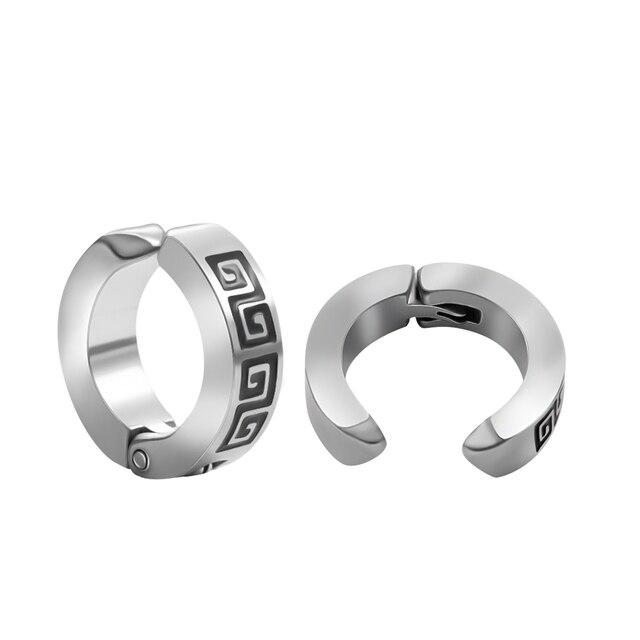 1 2 pcs Cool No Hole Earrings for Men Women Fashion Clip on Earring Silver Stainless.jpg 640x640 - 1-2 pcs Cool No Hole Earrings for Men Women Fashion Clip-on Earring Silver Stainless Steel Jewelry Without Piercing Ear Clip