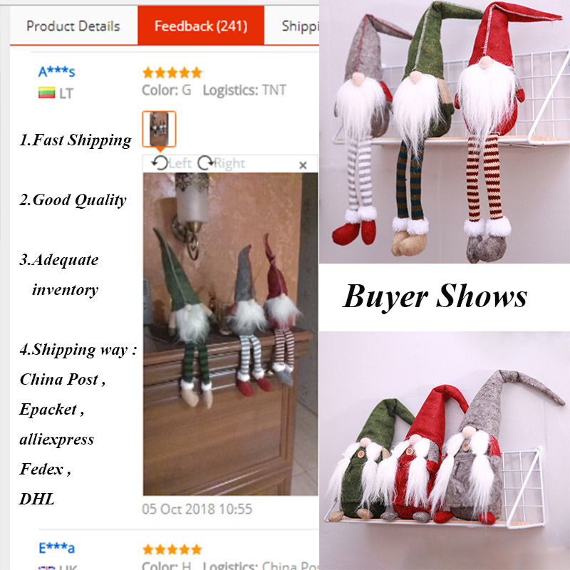Christmas Decorations All Year Long: Christmas Decoration Cute Sitting Long Legged Elf Festival