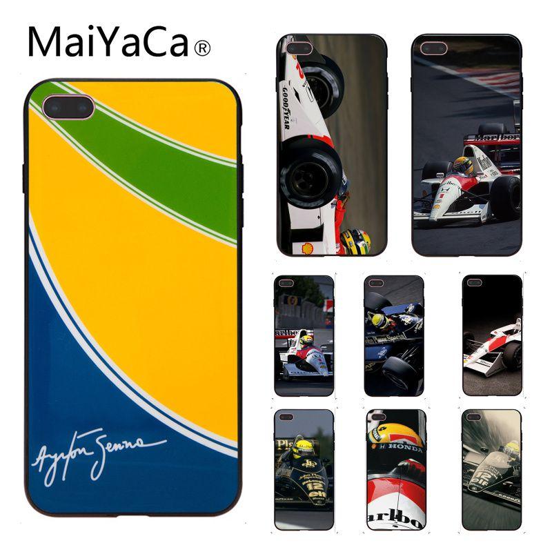 MaiYaCa Ayrton Senna DIY Painted Beautiful Phone Accessories Case For iphone 6 6s 6plus 6S plus 7 7plus 8 8plus 5 5s 5C