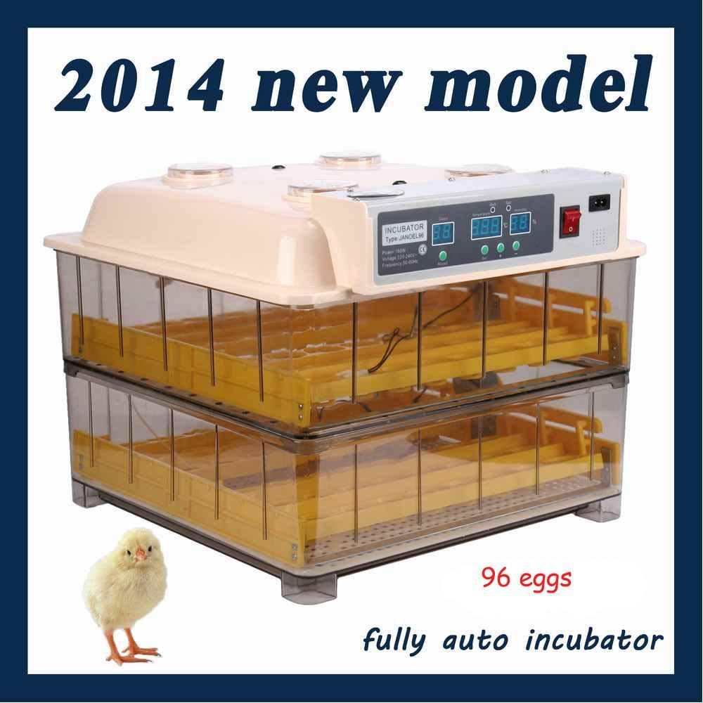 Hot and Top Sale Digital Automatic Egg incubator 96 chicken egg hatching machine Turning chicken gooose quail duck  egg  poultry s quire 947131