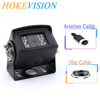 HOKEVISION black Truck Backup Camera Heavy Duty 18 LED IR Night Vision Waterproof IP68 Vehicle Rear View Camera For Trailer
