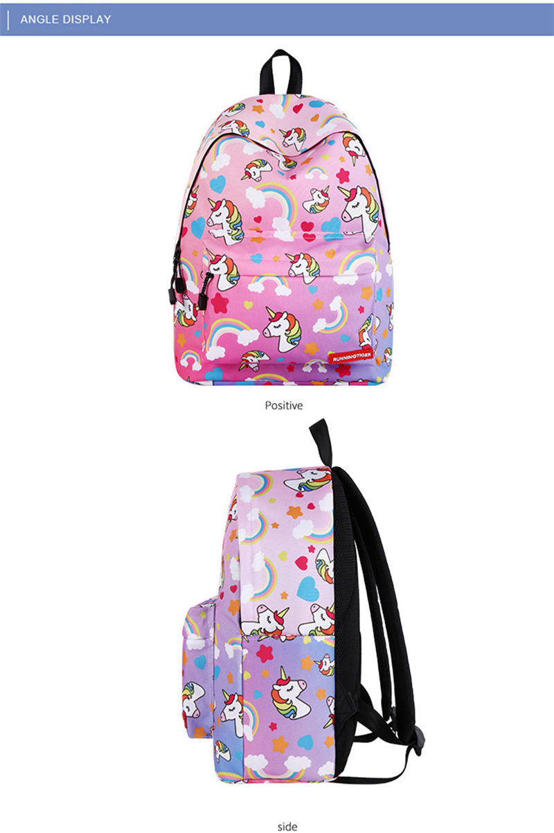 Unicorn 3D Printed Casual School Backpack Women Set 11