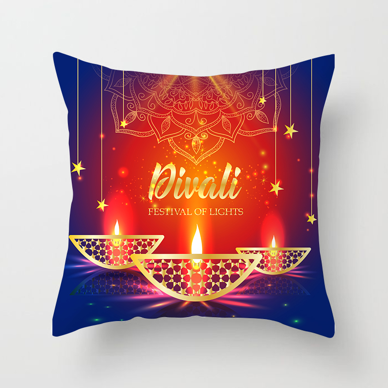 Islamic Eid Mubarak Decorations For Home Pillowcase Ramadan Decor Sofa Cotton Muslim Mosque Decorative Cushion Cover 45X45CM