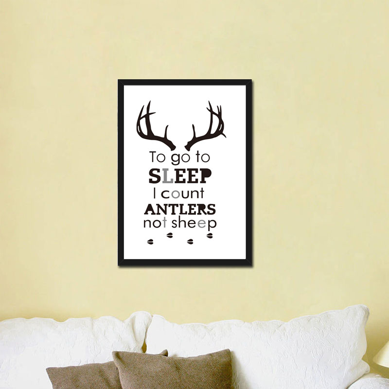 To Go To Sleep I Count Antlers Not Sheep Characters Canvas Art Paint ...