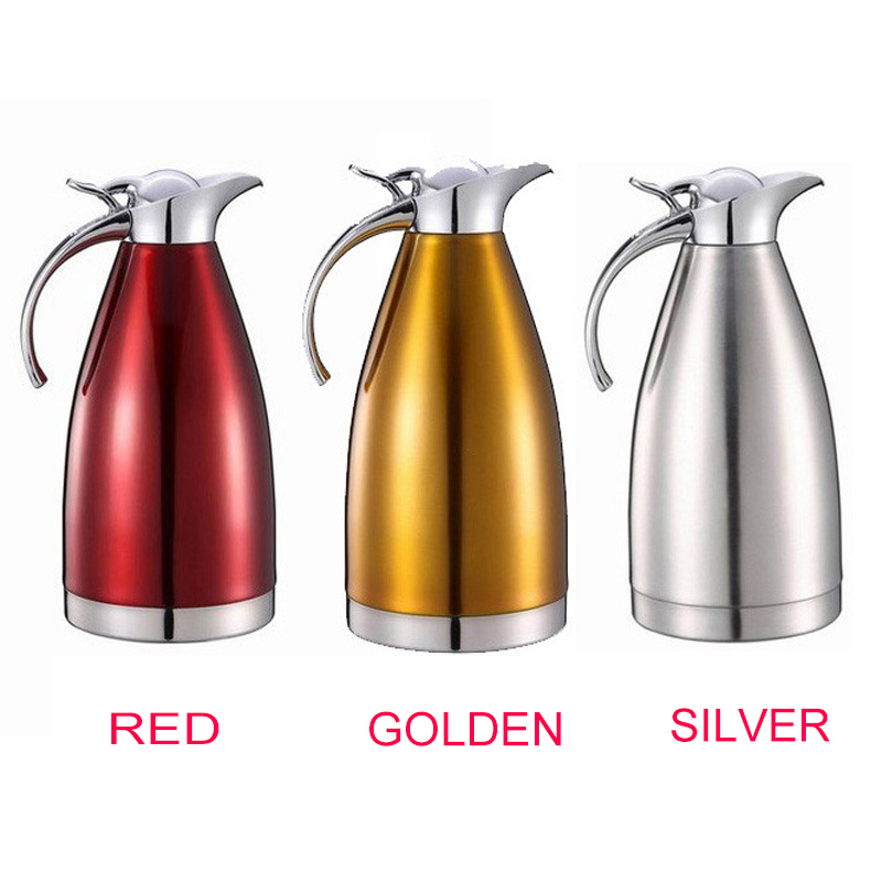 2L Electric Kettle Coffee/Tea Servers Pot for Dining Room and Kitchen Stainless Steel Insulated Thermal