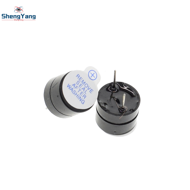 New Arrival 10pcs  ShengYang  5v Active Buzzer Magnetic Long Continous Beep Tone 12*9.5mm