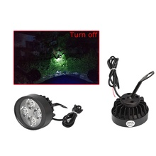 1 Pair Motorcycle 4 LED Super Bright Running Driving Fog Head Spot Light Lamps Headlight Spotlight