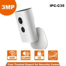3MP WiFi PT Camera English Version IPC-C35 1080P Indoor Security Network Mini Camera Baby Monitor Built-in Mic & Speaker