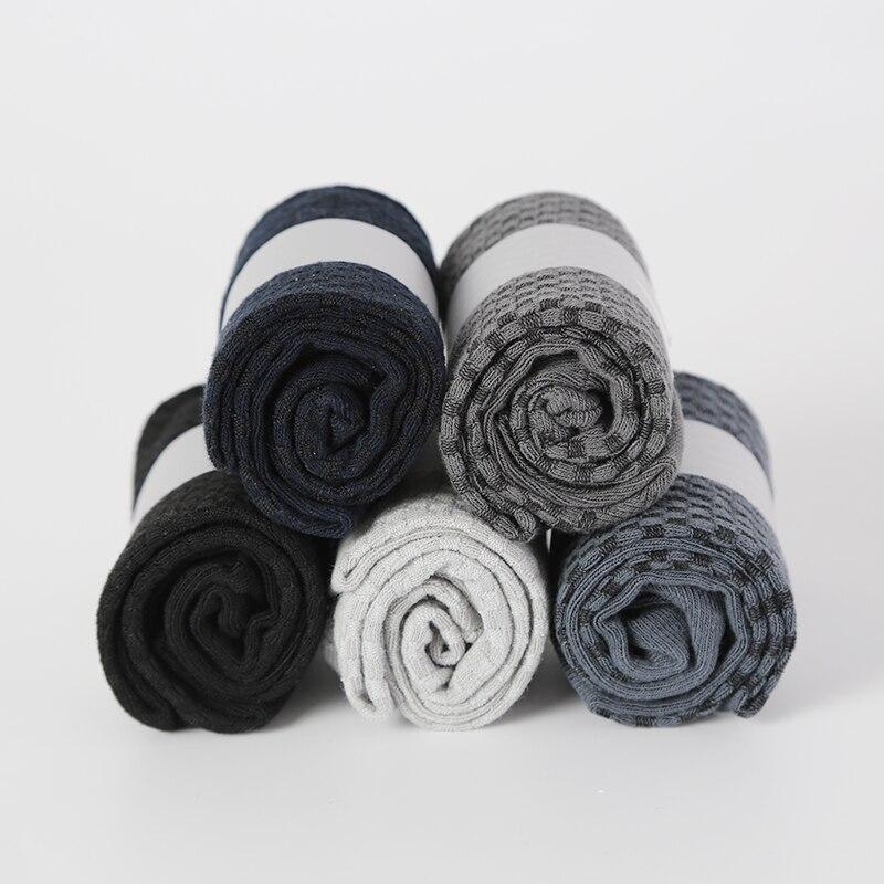 MWZHH Brand New Men Bamboo Fibre Socks Business Dress Autumn winter breathable Warm Man Long Size 39-46 10 pairs