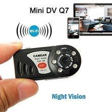 WiFi Camera Mini DV Q7 480P DVR Wireless IP Camera Brand New Hidden Camcorder Spy Video Recorder Camera Infrared Night Vision
