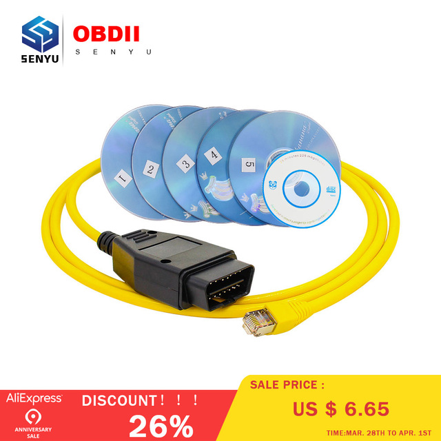 2018 New ESYS Data Cable For BMW ENET Ethernet to OBD Interface E-SYS ICOM Coding for F-serie Diagnostic Cable