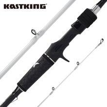 Kastking crixus 2.08m 2.18m 2.28 fiação fundição vara de pesca 2 peças 30 ton fibra carbono médio ação rápida com anéis sic