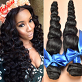 Queen Hair Products Brazilian Virgin Hair Loose Wave 4Bundles Brazilian Loose Wave Human Hair Weave Brazilian Hair Weave Bundles