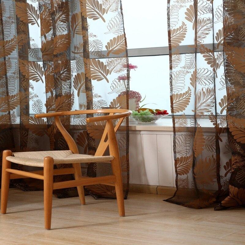 Moderne Bananenblatt Tll Fenster Vorhnge Fr Wohnzimmer Gardinen Schlafzimmer Rustikale Balkon Voile Vorhang Kinder