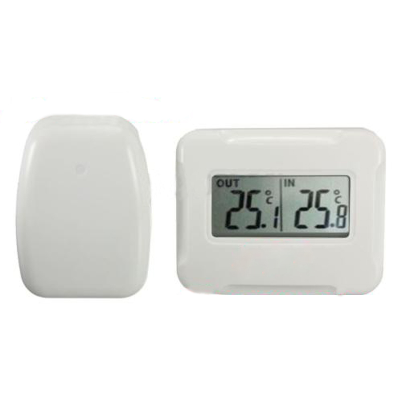 Promotion! New Digital Wireless LCD thermometer Indoor + Outdoor <font><b>Temperature</b></font> Sensor 433MHz