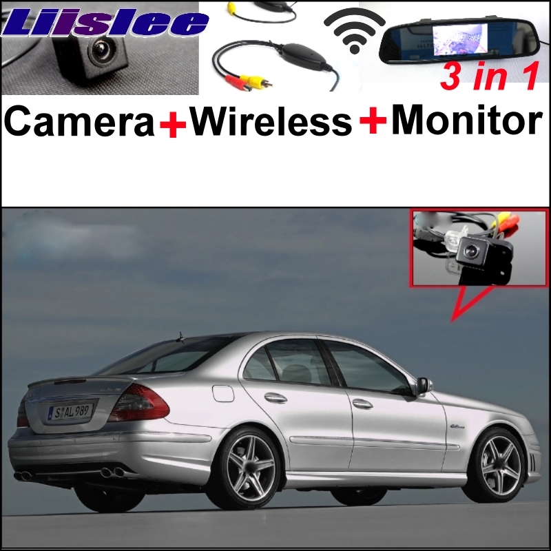 Liislee Special WiFi Camera + Wireless Receiver + Mirror Monitor 3in1 Easy DIY Parking System For Mercedes Benz MB E Class W211 wireless pager system 433 92mhz wireless restaurant table buzzer with monitor and watch receiver 3 display 42 call button