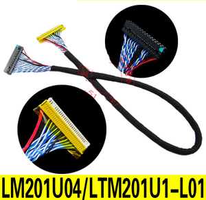 Image 2 - For LM201U04 LTM201U1 L01 Special LVDS Cable FI XB30SRL HF11 30Pins D8 Double 2ch 8bit 1.0mm Pitch Left Power LCD Controller