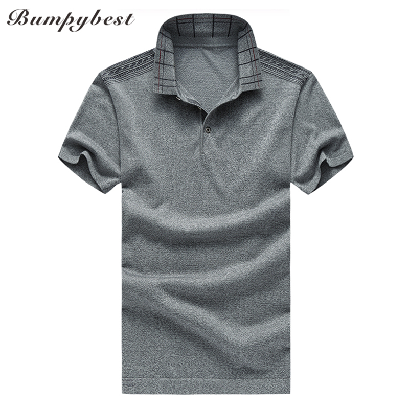Bumpybeast 2018 Summer Mulberry silk solid color   polo   shirt men Plus Size M-6XL Short Sleeve High-quality   polos   para hombre tops