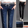 200 pounds of fat MM big yards denim pants casual Korean version was thin fat MM 2017 spring harem pants jeans tide MZ627