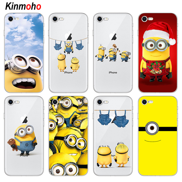 ac9cb2de66 Transparent Soft TPU For iPhone xs max case Lovely Minions Phone Cases Cover  For iPhone 7 6 6S 8 Plus 5s SE 5 X XR Funda Coque