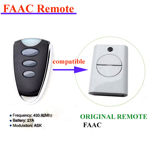 43392mhz Faac Electric Gate Remote Replacement Faac Garage Door