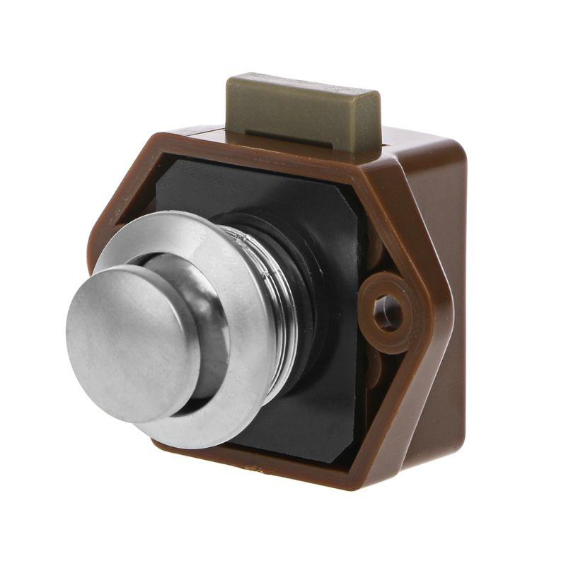 Official Website Mini Push Button Boat Mortorhome Showcase Door Catch Lock Van Rv Caravans Yacht Furniture Drawer Cabinet