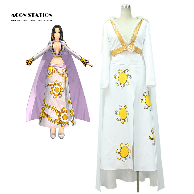 Free Shipping One Piece Seven Warlords of the Sea Pirate Empress Snake Princess Boa Hancock Adult Kid Halloween Cosplay Costume