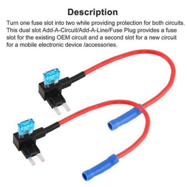 5 uds caja de fusibles automotriz 12v soporte de seguro ATM adaptador APM Tap Mini Blade Micro add-a-circuito adaptador de fusibles Accesorios
