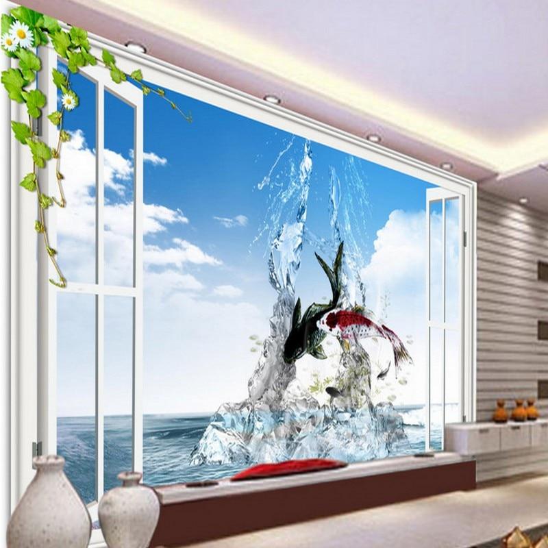 Free Shipping Romantic Warmth Greek Love Castle Wall Murals